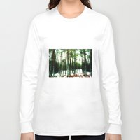 woodland Long Sleeve T-shirts featuring Woodland by PRETTY BONES LEE