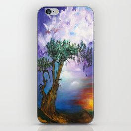 The Tree in Sunset iPhone Skin