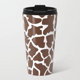 Animal Print (Giraffe Pattern) - Brown White  Travel Mug