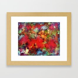 A red road Framed Art Print