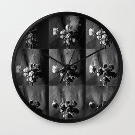 Burned roses Wall Clock