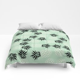 Mint Pineapple Pattern 023 Comforters
