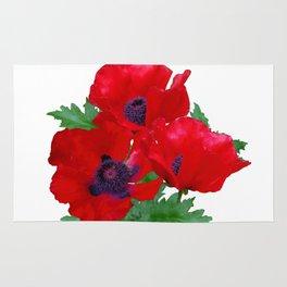 Red oriental poppies Rug