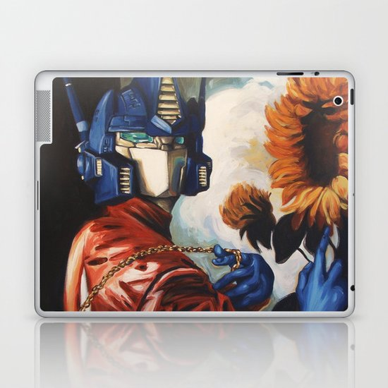 Optimus Prime With Sunflower Laptop & iPad Skin