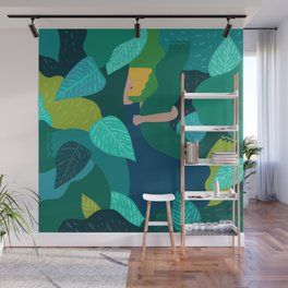 Diving into the Greenery Wall Mural