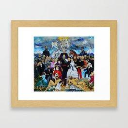 Requiem for an Emperor Requiem para un Emperador by Juan Manuel Rocha Kinkin Framed Art Print