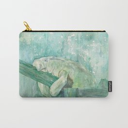 Manatee on a Fence by Blackburn Ink Carry-All Pouch