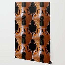 Black Cat And Violin #decor #society6 Wallpaper