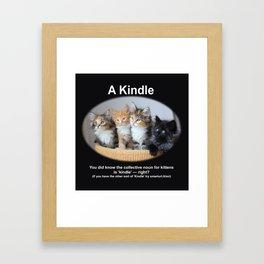 A Kindle of Kittens Framed Art Print