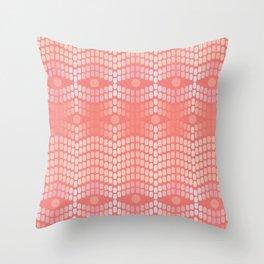 Living Coral Mosaic Throw Pillow