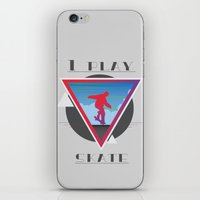 skate iPhone & iPod Skins featuring Skate by Stefano Messina