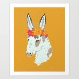 Penelope the Pinto Donkey Art Print