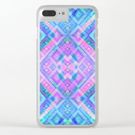 Sacred Geometric Iridescent Holographic Fantasy Print Clear iPhone Case