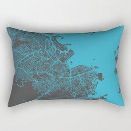 Rio map blue Rectangular Pillow
