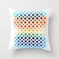 planets Throw Pillows featuring planets by sustici
