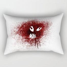 Space face Red Rectangular Pillow