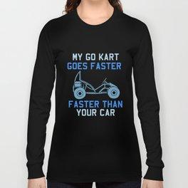 Go Kart Racing Gift Long Sleeve T-shirt