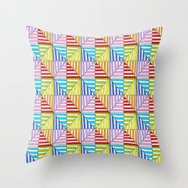 Symetric triangle 5 -vichy, gingham,strip,triangle,geometric, sober,tartan,mandala Throw Pillow