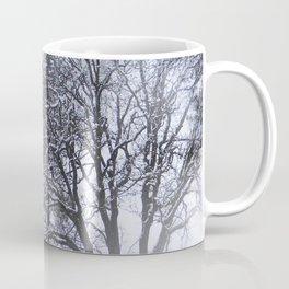 Snowy day in the trees..... Coffee Mug