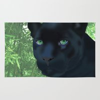 panther Area & Throw Rugs featuring Panther by ShannonMD