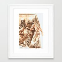 silent hill Framed Art Prints featuring Silent Hill b by Joseph Silver
