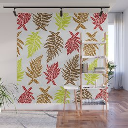 Inked Ferns – Autumn Palette Wall Mural