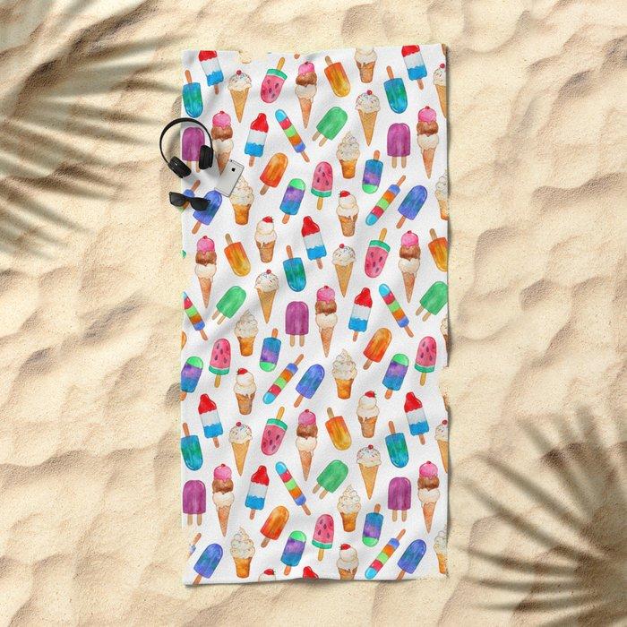 Summer Pops and Ice Cream Dreams Beach Towel