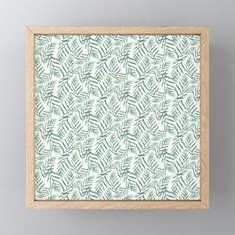 Ferns Pattern Framed Mini Art Print