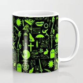 Buffy Symbology, Green Coffee Mug