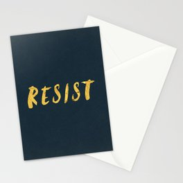 RESIST 6.0 - Freedom Gold on Navy #resistance Stationery Cards