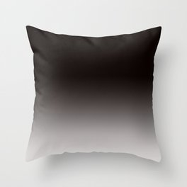 Monochromatic Background, Faded Black to Grey Throw Pillow