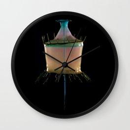 Creamy Collision Wall Clock
