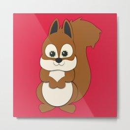 Forest Squirrel Nursery Set Metal Print