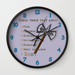 Checklist Wall Clock