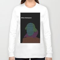shakespeare Long Sleeve T-shirts featuring William Shakespeare by Jamie Carroll