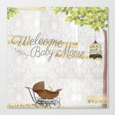 Welcome baby Canvas Print