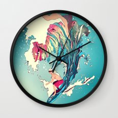 Blind Surfer Wall Clock