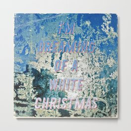 White Christmas - A Hell Songbook Edition Metal Print