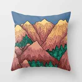 Natural Mountains Throw Pillow