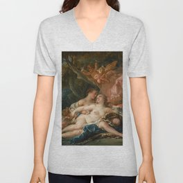 """François Boucher """"Jupiter and Callisto (The Nymph Callisto Seduced by Jupiter in the Guise of Diana) Unisex V-Neck"""