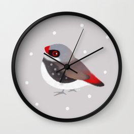 Diamond Firetail Wall Clock