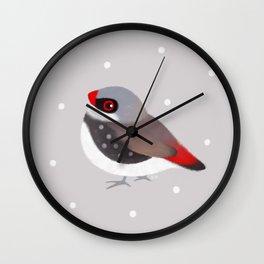 Diamond Firetail Wall Clock