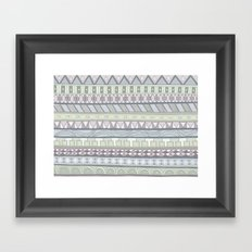 Simple Pattern Framed Art Print