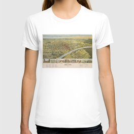 Vintage Pictorial Map of Waco Texas (1892) T-shirt