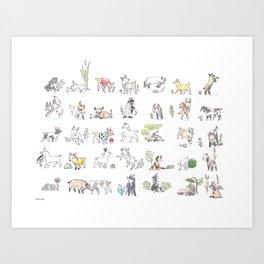 Goat Kids Collection Art Print