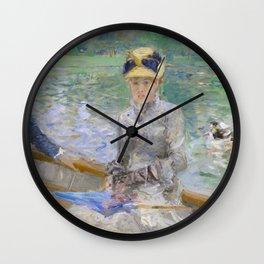 Summer's Day by Berthe Morisot Wall Clock