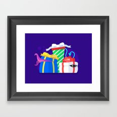 Monster Presents Framed Art Print