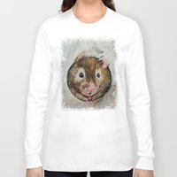 hamster Long Sleeve T-shirts featuring Hamster Love by Michael Creese