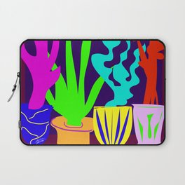 Colorful Cactus and Succulents Minimal Design Shapes Laptop Sleeve