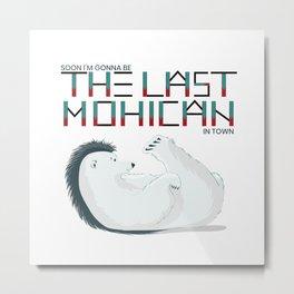 Polar bear The Last Mohican Metal Print